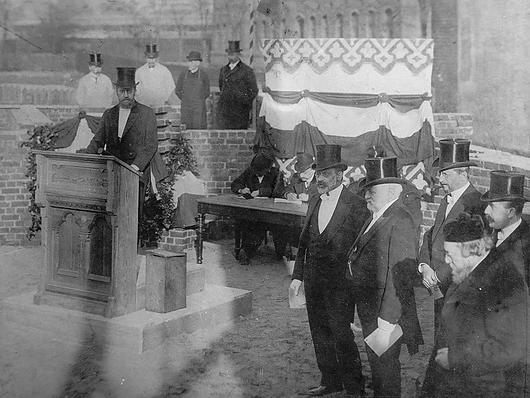 Bornplatzsynagoge (Grundsteinlegung)