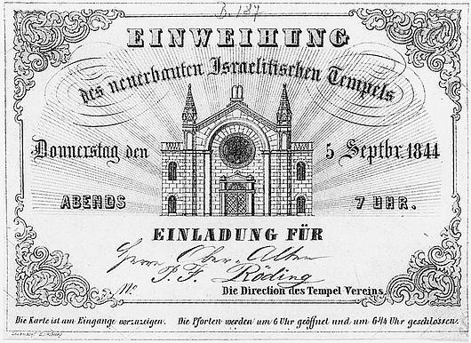 Tempeleinweihung (Einladungskarte)